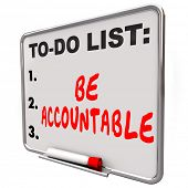 stock photo of take responsibility  - Be Accountable words on a to - JPG