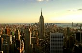 stock photo of rockefeller  - A general view of New York City from the top of the Rockefeller Building - JPG