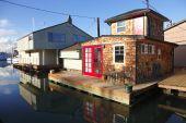 stock photo of bayou  - Residential living in a bayou Portland Oregon NW - JPG