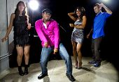 image of rave  - cool people dancing in a nightclub or bar lounge - JPG