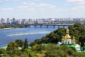 image of kiev  - View from the Kiev Pechersk Lavra on the Dnieper River - JPG