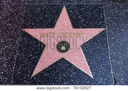 Matt Groening, Creator Of The Simpsons, Star On The Hollywood Walk Of Fame