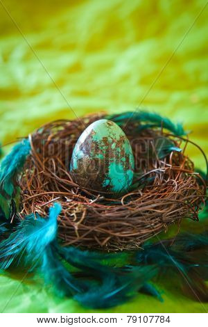 Turquoise Easter Egg