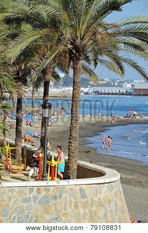 Marbella beach.