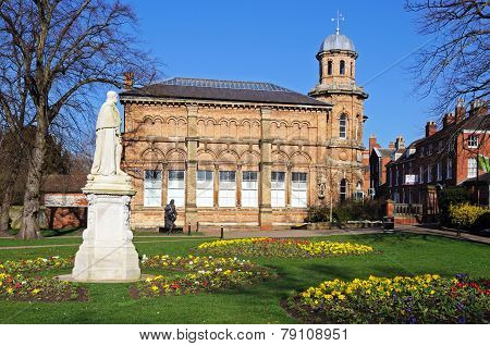 Beacon park and old library, Lichfield.
