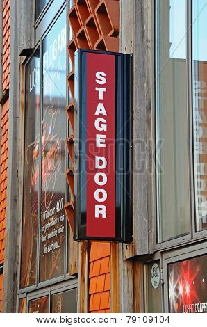 Stage Door sign, Lichfield.