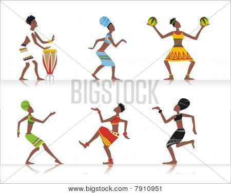 African dansers