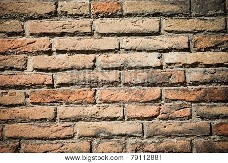 Old red Brickwall