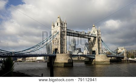 Tower Bridge In Cloudy Day