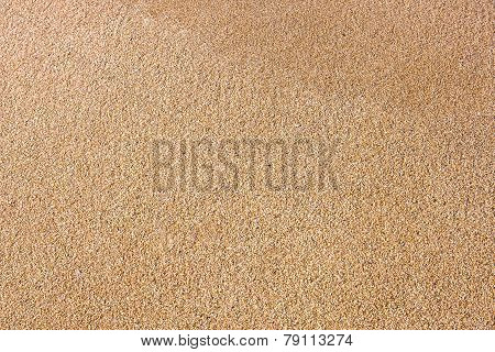Close Up Of Sea Beach Sand Or Desert Sand