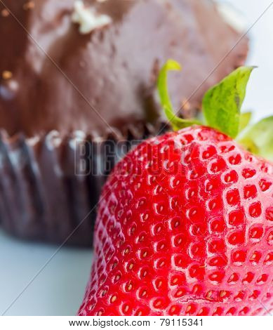 Strawberry And Cake Means Indulgence Strawberries And Fruit