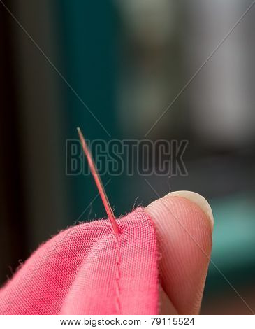 Sewing Cloth Means Clothing Needles And Tailoring