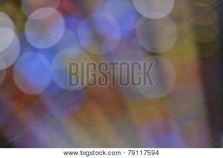de-focused colored lights