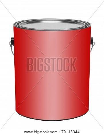 Red gallon pain can, isolated