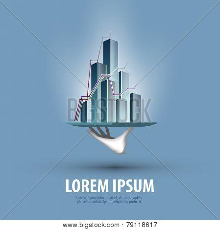 Business. Statistics development. Nezhvizhimost rating. Logo, icon, template, emblem