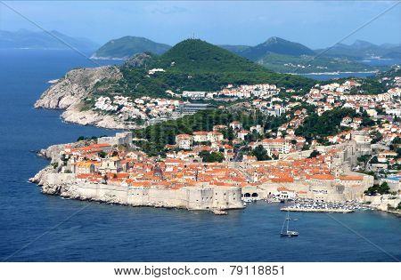 view of Dubrovnik, Croatia, Europe