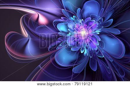 Blue Liquid Flower