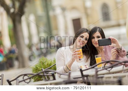 Young Women In The Cafe