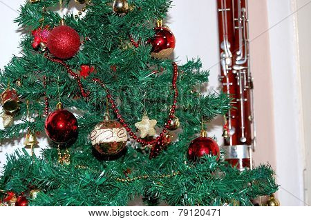 Decorations On The Christmas Tree