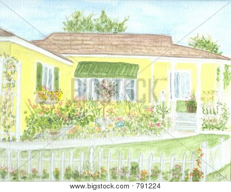 Our Home Watercolor