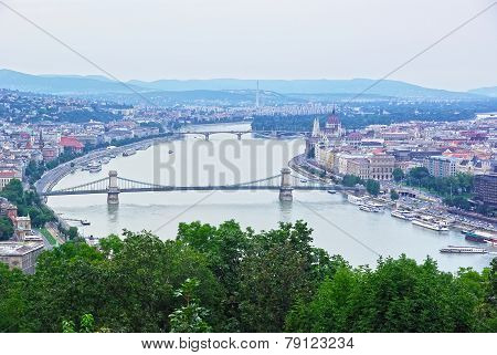 Aerial View Of Budapest