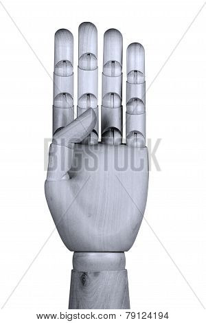 Showing Four  Fingers
