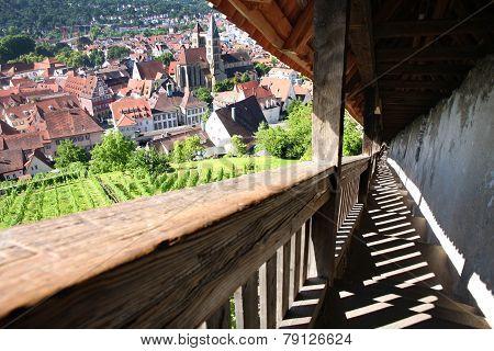 Esslingen Am Neckar Views From Castle Burg Near Stuttgart, Baden Wurttemberg, Germany