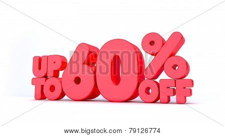 Up to 60% Off 3D Render Red Word Isolated in White Background