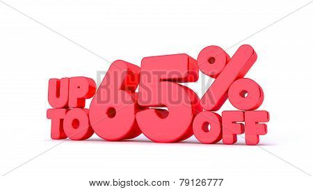 Up to 65% Off 3D Render Red Word Isolated in White Background