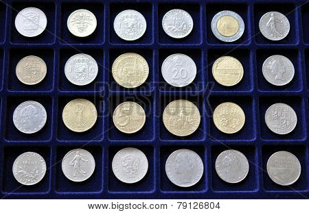 Old historical collections of coins