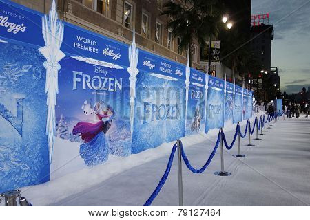 LOS ANGELES - NOV 19: Atmosphere at the premiere of Walt Disney Animation Studios' 'Frozen' at the El Capitan Theater on November 19, 2013 in Los Angeles, CA