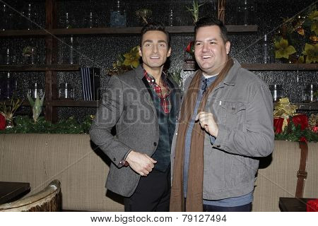 LOS ANGELES - DEC11: Scott Nevins, Ross Mathews at SPARKLE: An All-Star Holiday Concert to benefit The Actors Fund at Rockwell Table & Stage on December 11, 2014 in Los Angeles, California