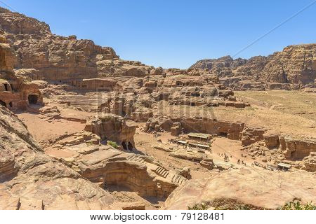 Aerial View Of City Of Petra