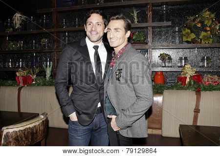 LOS ANGELES - DEC11: Steve Kazee, Scott Nevins - Scott Nevins Presents SPARKLE: An All-Star Holiday Concert to benefit The Actors Fund at Rockwell Table & Stage on December 11, 2014 in Los Angeles, CA