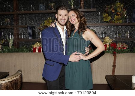 LOS ANGELES - DEC11: Ginifer King, Constantine Rousouli at SPARKLE: An All-Star Holiday Concert to benefit The Actors Fund at Rockwell Table & Stage on December 11, 2014 in Los Angeles, California