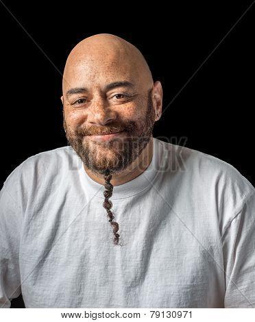 Amused Mixed Race Man