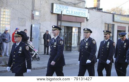 NYPD chiefs line up for viewing