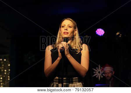 LOS ANGELES - DEC11: Stacey Oristano at Scott Nevins Presents SPARKLE: An All-Star Holiday Concert to benefit The Actors Fund at Rockwell Table & Stage on December 11, 2014 in Los Angeles, California