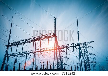 Distribution Substation Silhouette