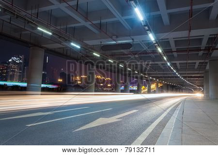 Light Trails In The Guangzhou Tower