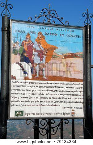 Omar Ben Hafsun sign, Comares.