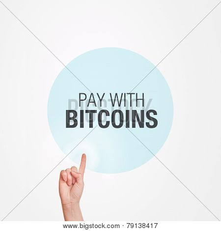 Pay With Bitcoins Concept