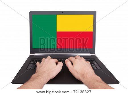 Hands Working On Laptop, Benin