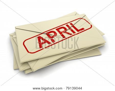 april letters  (clipping path included)