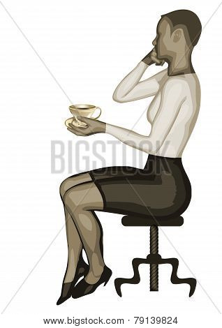 Business Woman And Coffee