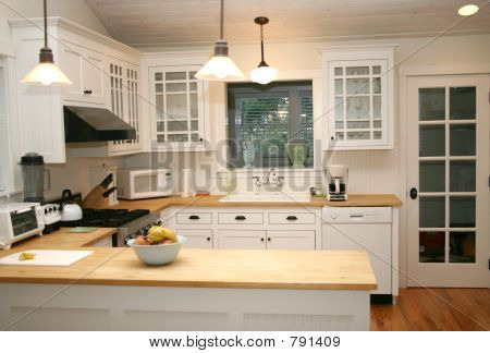 White Country Kitchen