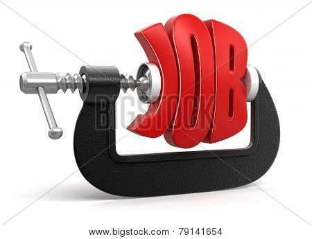 job in clamp (clipping path included)