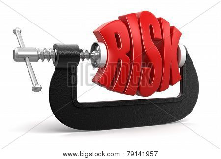 risk in clamp (clipping path included)