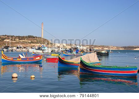 Marsaxlook Bay of Malta