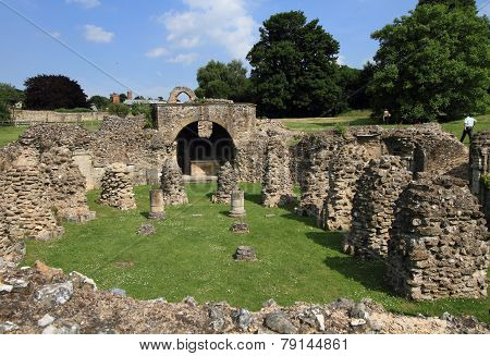 ruins of Canterbury abbey